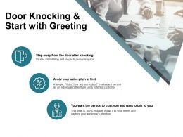 Door Knocking And Start With Greeting Avoid Ppt Powerpoint Presentation File Visuals