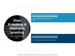 Door Knocking And Start With Greeting Ppt Professional Background Designs