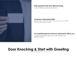 Door Knocking And Start With Greeting Sales Ppt Powerpoint Presentation File Gallery