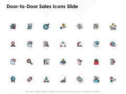 Door To Door Sales Icons Slide Checklist Rrows C593 Ppt Powerpoint Presentation Portfolio Show