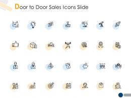 Door To Door Sales Icons Slide Growth A207 Ppt Powerpoint Presentation File Diagrams