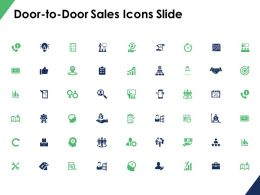 Door To Door Sales Icons Slide Growth Ppt Powerpoint Presentation File Icon