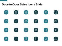 Door To Door Sales Icons Slide Idea Blub Ppt Powerpoint Presentation File Designs