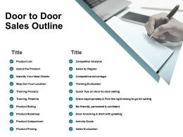 Door To Door Sales Outline Product Comparison Ppt Powerpoint Presentation File Guide