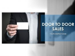 Door To Door Sales Powerpoint Presentation Slides