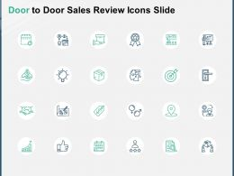 Door To Door Sales Review Icons Slide A150 Ppt Powerpoint Presentation Outline Clipart