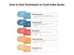 Door To Door Techniques To Crush Sales Quota