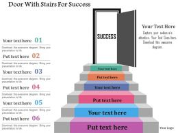 door_with_stairs_for_success_flat_powerpoint_design_Slide01