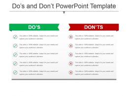 Dos And Donts Bullet Points With Tick Mark Icon Ppt Slide