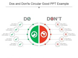 Dos And Donts Circular Good Ppt Example