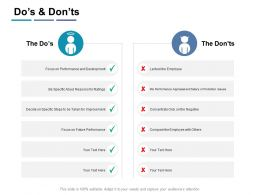 Dos And Donts Compare Ppt Powerpoint Presentation Infographic Template Infographic