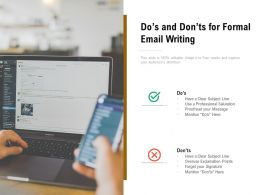 Dos And Donts For Formal Email Writing