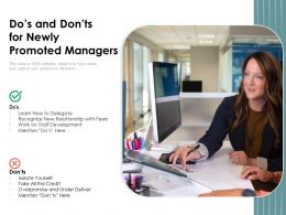 Dos And Donts For Newly Promoted Managers