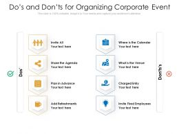 Dos And Donts For Organizing Corporate Event