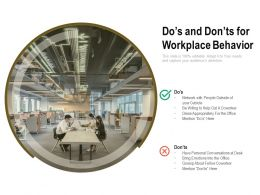 Dos And Donts For Workplace Behavior