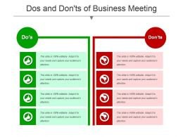 Dos And Donts Of Business Meeting Powerpoint Templates