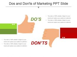 Dos And Donts Of Marketing Ppt Slide