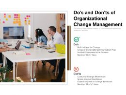 Dos And Donts Of Organizational Change Management