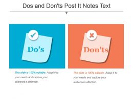 Dos And Donts Post It Notes Text Powerpoint Slide Deck