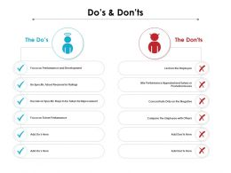 Dos And Donts Ppt Powerpoint Presentation Professional Graphic Images