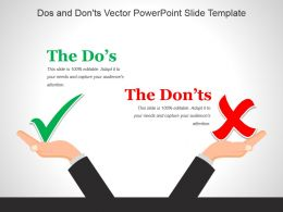 Dos And Donts Vector Powerpoint Slide Template