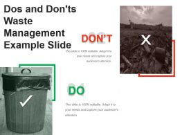 Dos And Donts Waste Management Example Slide