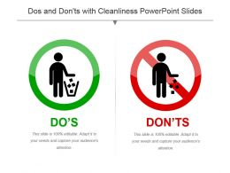 Dos And Donts With Cleanliness Powerpoint Slides