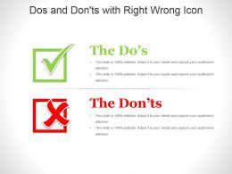 Dos And Donts With Right Wrong Icon Powerpoint Slides Design