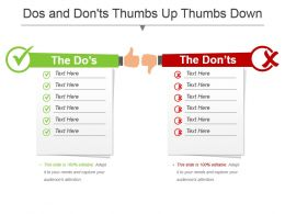 Dos And Dontsthumbs Up Thumbs Down Powerpoint Template