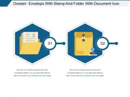 Dossier Envelops With Stamp And Folder With Document Icon