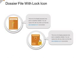 Dossier File With Lock Icon