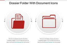 Dossier Folder With Document Icons