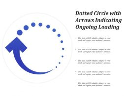 Dotted Circle With Arrows Indicating Ongoing Loading