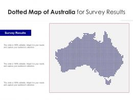 Dotted Map Of Australia For Survey Results