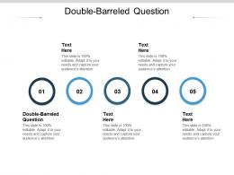Double Barreled Question Ppt Powerpoint Presentation Professional Aids Cpb