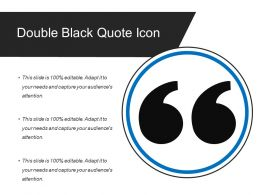 Double Black Quote Icon