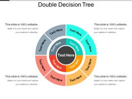 Double Decision Tree Ppt Infographic Template