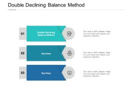 Double Declining Balance Method Ppt Powerpoint Presentation Layouts Topics Cpb