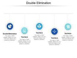 Double Elimination Ppt Powerpoint Presentation Infographic Template Pictures Cpb