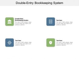 Double Entry Bookkeeping System Ppt Powerpoint Presentation Infographics Mockup Cpb