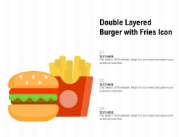 Double Layered Burger With Fries Icon