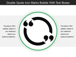 Double Quote Icon Marks Bubble With Text Boxes