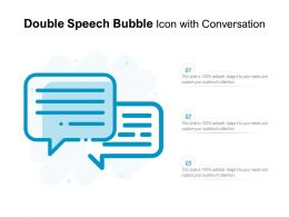 Double Speech Bubble Icon With Conversation
