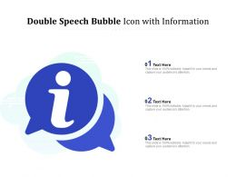 Double Speech Bubble Icon With Information