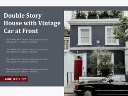 Double Story House With Vintage Car At Front