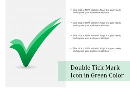 Double Tick Mark Icon In Green Color