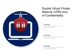 Double Virtual Private Network VPN Icon Of Confidentiality