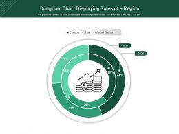 Doughnut Chart Displaying Sales Of A Region
