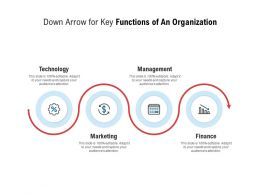 Down Arrow For Key Functions Of An Organization