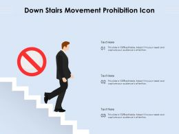 Down Stairs Movement Prohibition Icon